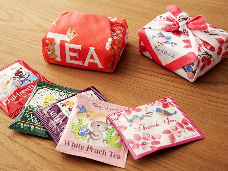 迷你手帕茶包組5入-小鳥與草莓【卡雷爾恰佩克Karel Capek 】山田詩子 / 紅茶 / 茶包★ 2