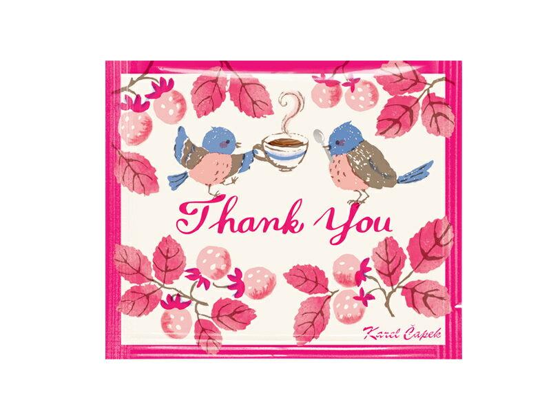 迷你手帕茶包組5入-小鳥與草莓【卡雷爾恰佩克Karel Capek 】山田詩子 / 紅茶 / 茶包★ 4