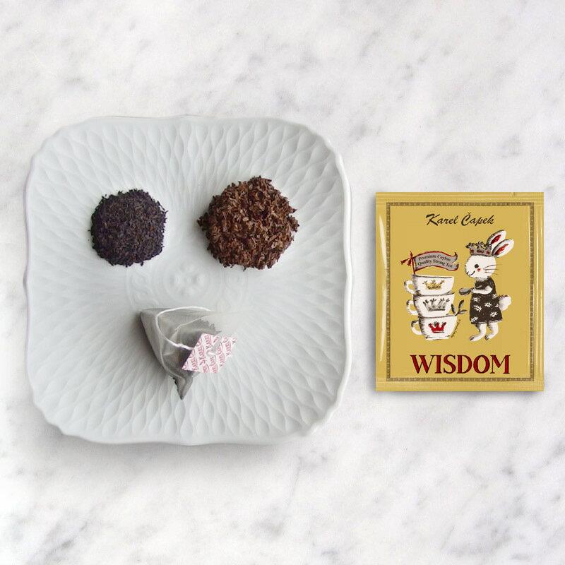 WISDOM-創業30周年紀念茶罐1.5g*8包-【卡雷爾恰佩克Karel Capek 】山田詩子 / 紅茶 / 禮盒 1