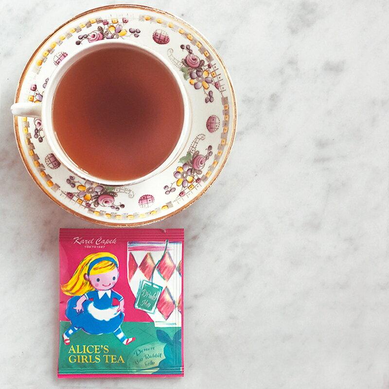 愛麗絲夢遊仙境-特選茶包禮盒組2種口味各3入-【卡雷爾恰佩克Karel Capek 】山田詩子 / 紅茶 / 茶包 3