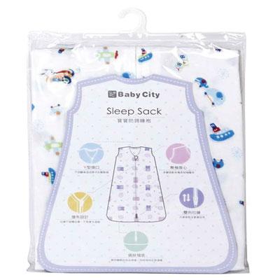 Baby City 超柔紗布防踢睡袍 - M/藍【悅兒園婦幼生活館】