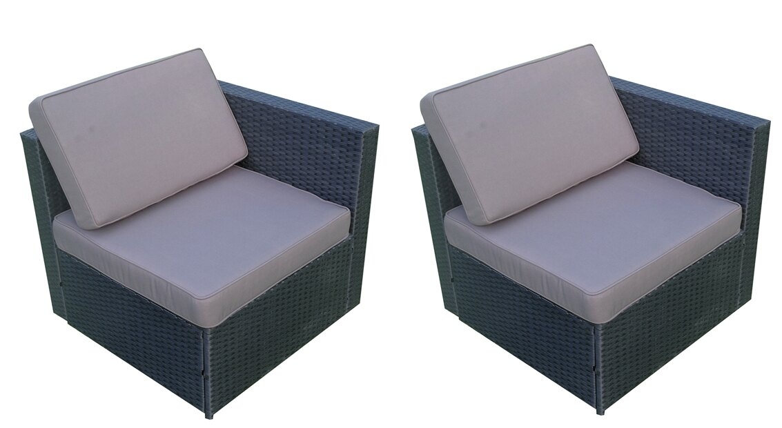 Mcombo Outdoor Rattan Wicker Sofa Couch Patio Furniture Chair Garden Sectional Set With Waterproof Cushions 6088 2004cc