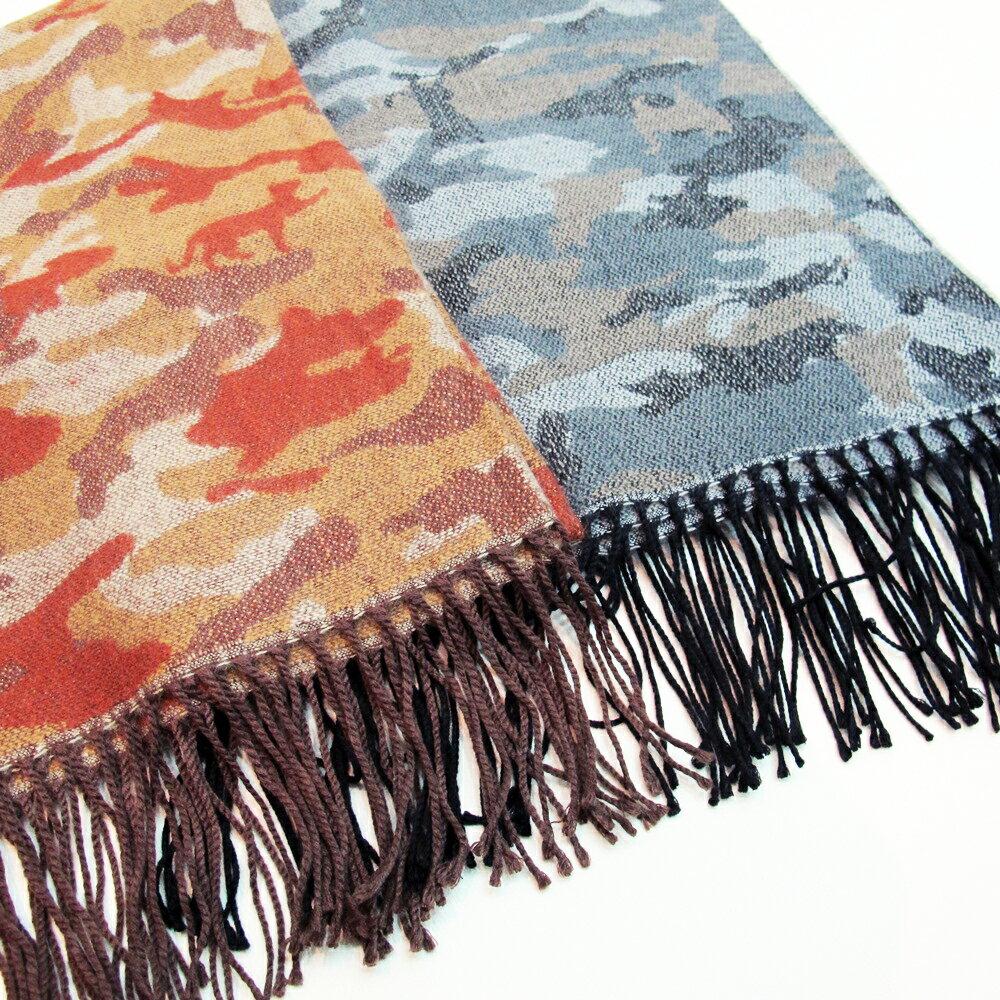 配色迷彩長圍巾