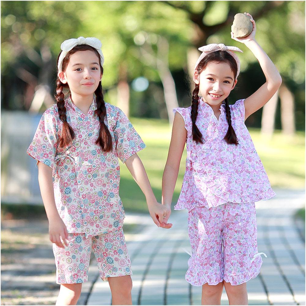 Augelute 女童和服 夏日短袖套裝 42188