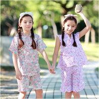 婦嬰用品短袖套裝 日式和服 夏日浴衣 造型服 女童 派對 扮演服 Augelute 42188(好窩生活節)。就在baby童衣婦嬰用品