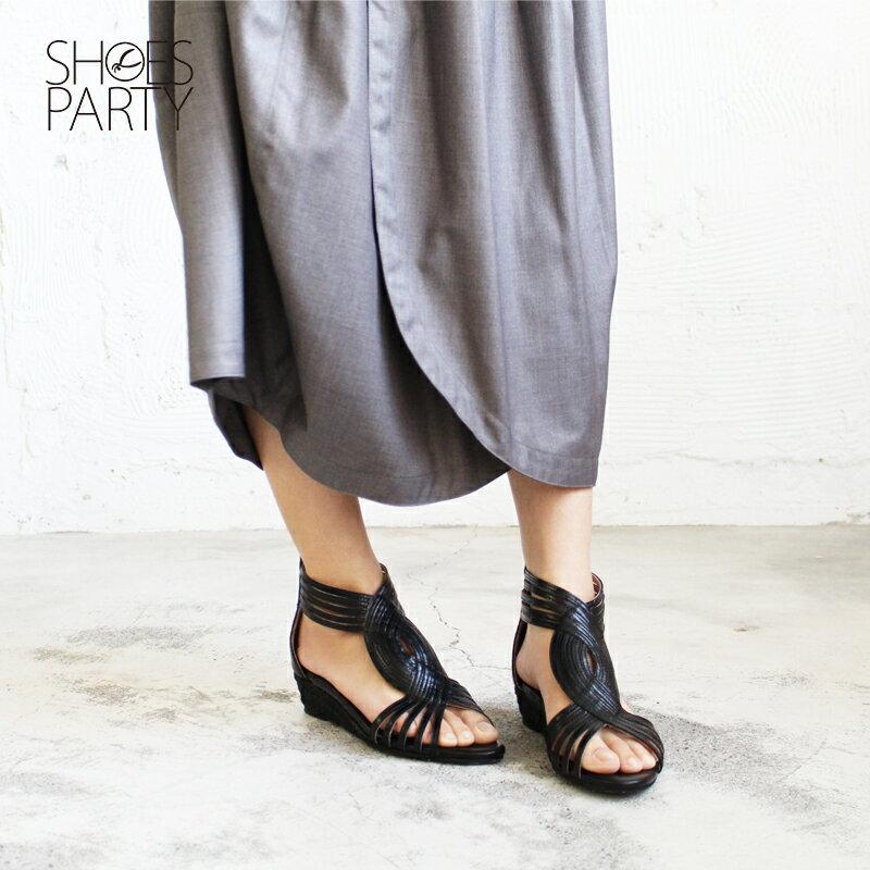 【S2-17118L】拉長下半身比例S型真皮羅馬涼鞋_Shoes Party 2