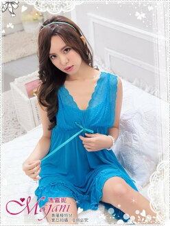 [瑪嘉妮Majani]日系中大尺碼睡衣-夢幻蕾絲 甜美 性感 現貨 299元 附同款丁字褲可超取 js-225