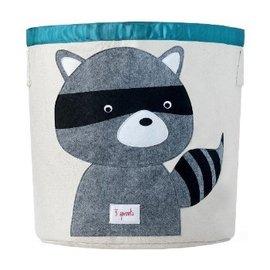 加拿大 3 Sprouts 收納籃-小浣熊【超大容量摺疊好收納,100%棉帆布手感柔軟耐抗污】【紫貝殼】