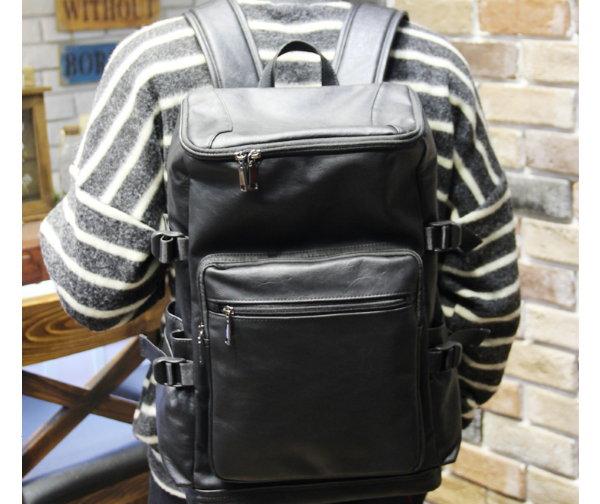 <br/><br/>  ☆T-HOMME☆JAPAN&KOREA 復古大容量時尚簡約百搭街頭潮流學院風休閒後背包旅行包書包<br/><br/>
