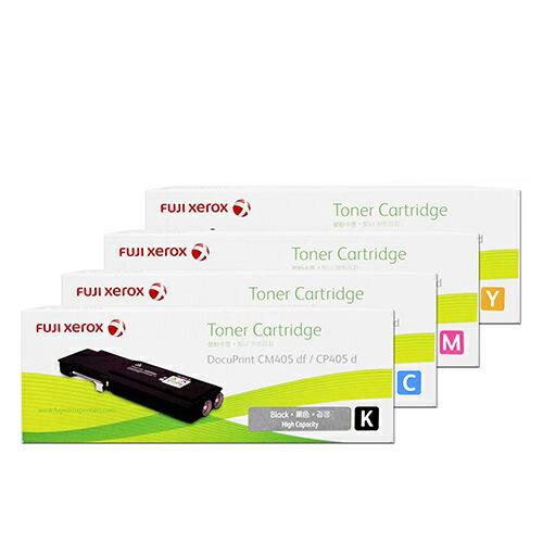 富士全錄 Fuji Xerox CT202033/CT202034/CT202035/CT202036 原廠四色優惠組 高容量(適用 DP CM405 df, DP CP405 d)