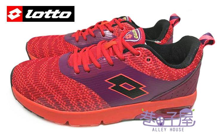 【巷子屋】義大利第一品牌-LOTTO樂得 男款編織無車縫彈力避震慢跑鞋 [3362] 紅 超值價$690