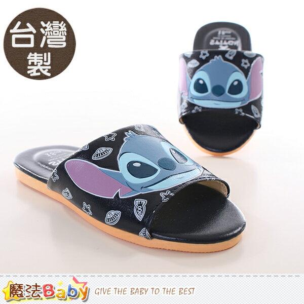 兒童拖鞋 製迪士尼史迪奇 室內拖鞋 魔法Baby^~sh9840