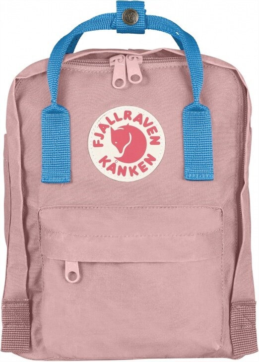 Fjallraven 小狐狸 Kanken Mini 迷你瑞典書包/空肯包/方型後背包 23561 312-508 粉紅/空氣藍