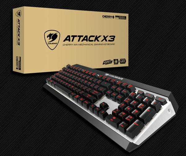 COUGAR美洲獅ATTACK X3 紅光(繁中)青軸 電競專用機械式鍵盤