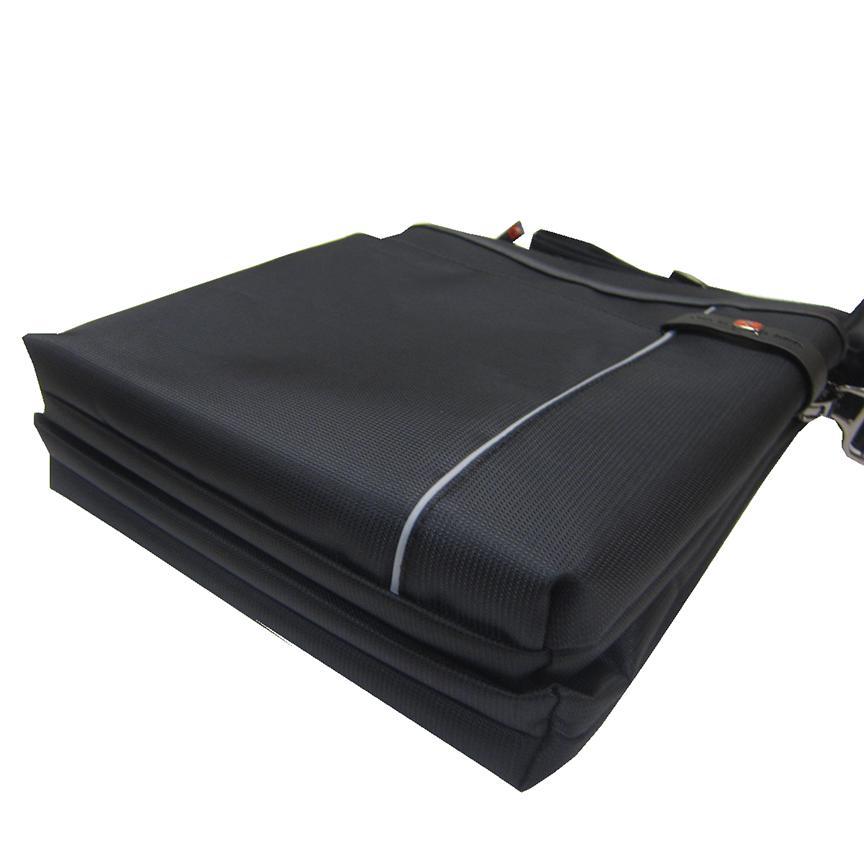 限時 滿3千賺10%點數↘ | ~雪黛屋~OVER-LAND 肩側包中容量主袋+外袋共六層扁型包設計三層主袋口防水尼龍布+皮革中性款男女適用T5360