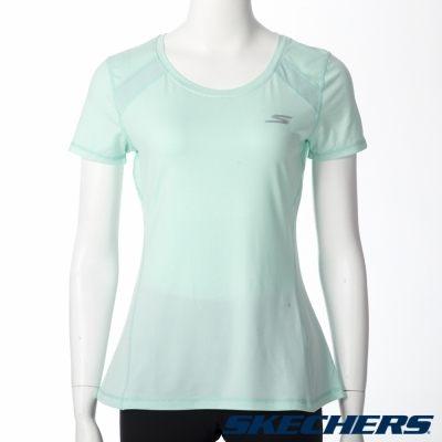 SKECHERS女短袖上衣(水藍)舒適透氣排汗GWPTT155BLU【胖媛的店】