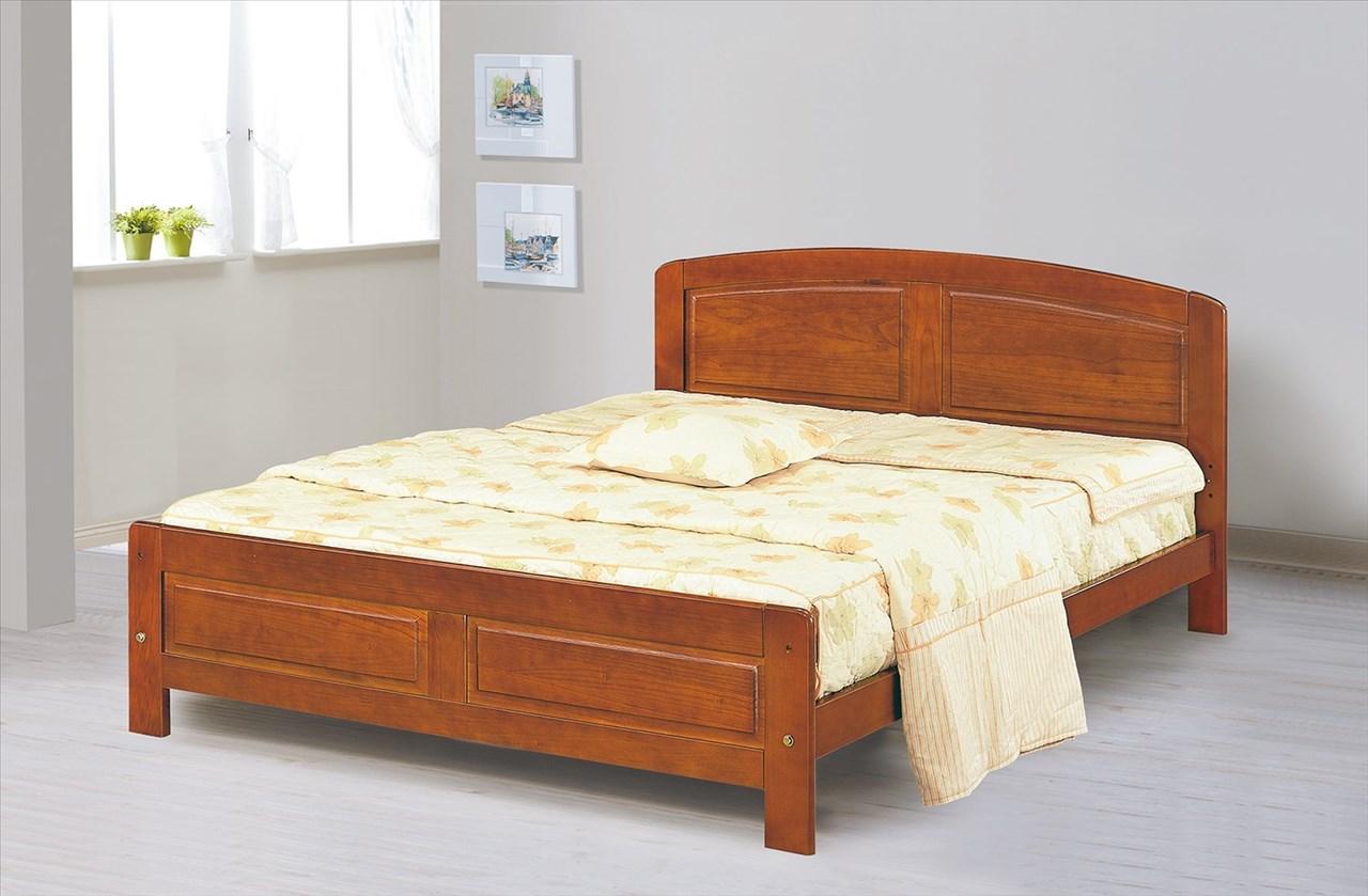【石川家居】EF-101-3 歌麗雅5尺柚木色雙人床架 (不含其他商品) 大需搭配車趟