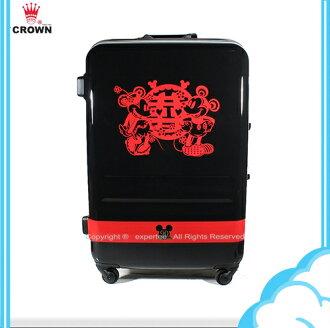 90週年紀念款【騷包館】【CROWN皇冠】27吋 Disney 米奇 4.9kg輕量高級蜜月旅行箱 C-FA029 行李箱 米老鼠