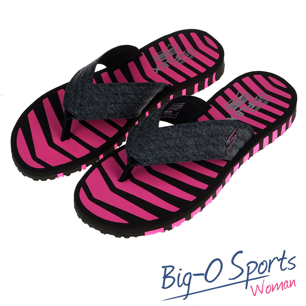 SKECHERS GO FLEX 休閒拖鞋 女 14258BKHP Big-O Sports