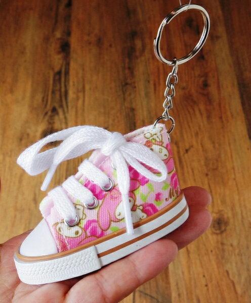 99元免運 美樂蒂 帆布鞋鑰匙圈 三麗鷗 玫瑰 Sanrio 日本正版 該該貝比日本精品