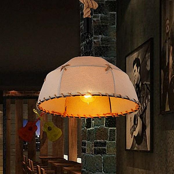 【威森家居】美式 麻布罩鄉村吊燈 現貨原木工業風現代簡約復古吸頂燈吊燈壁燈大廳客廳臥室陽台燈具LED設計師 L170130