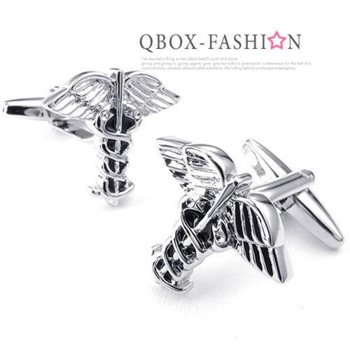 《 QBOX 》FASHION 配飾【W10024658】精緻個性天使翅膀電鍍銅質造型袖扣