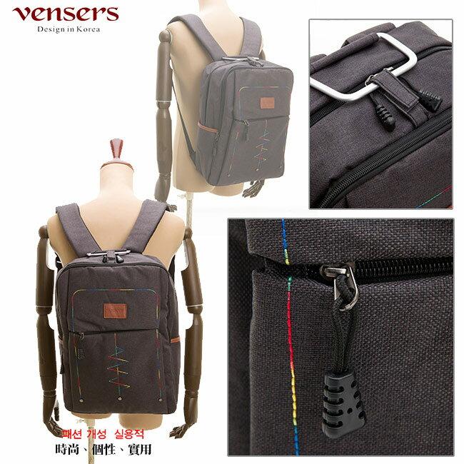 【vensers】簡約丹寧牛仔後背包(R00066301黑色) 3