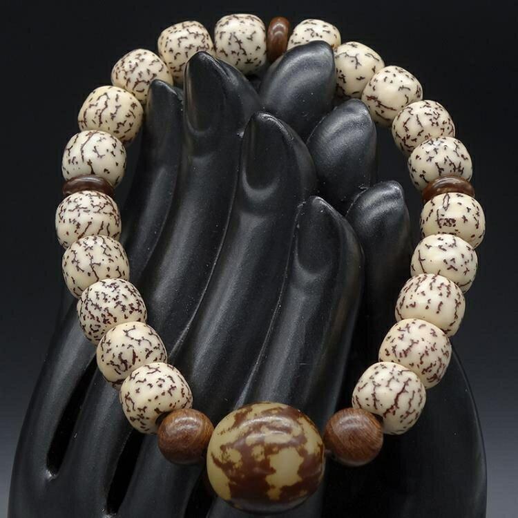 佛珠手錬男女款天然金線血絲菩提子手串原籽高密度文玩念珠