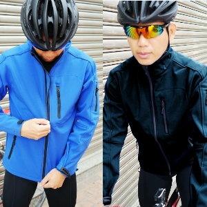 美麗大街【105011329】單車暖感外套 時尚素色軟殼衣