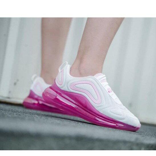 【日本海外代購】NIKE AIR MAX 720 白粉 桃紅 粉色 全氣墊 草莓夾心 休閒 慢跑 女鞋 AR9293-103