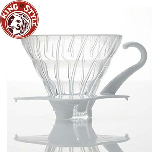 金時代書香咖啡 HARIO V60白色01玻璃濾杯 VDG~01W
