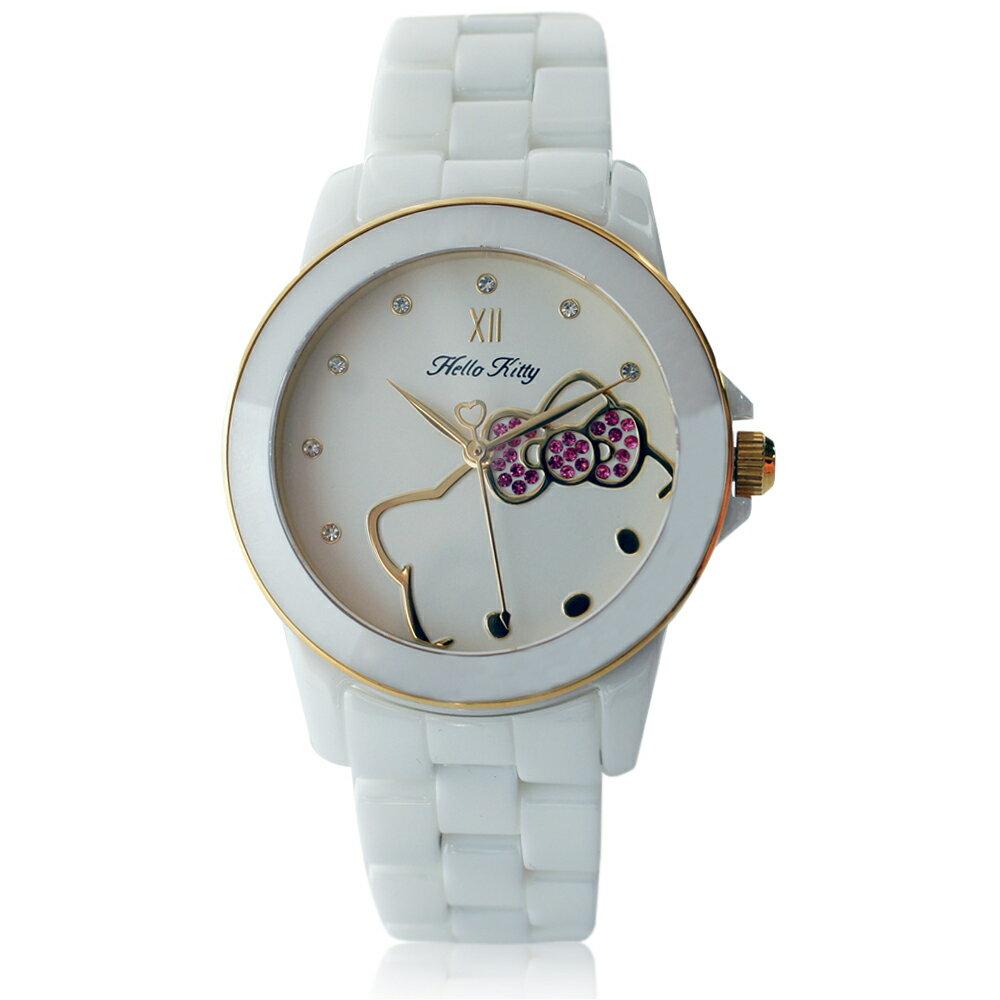 Hello Kitty LK673 三麗鷗正版授權 粉嫩色系晶鑽陶瓷石英腕錶 3