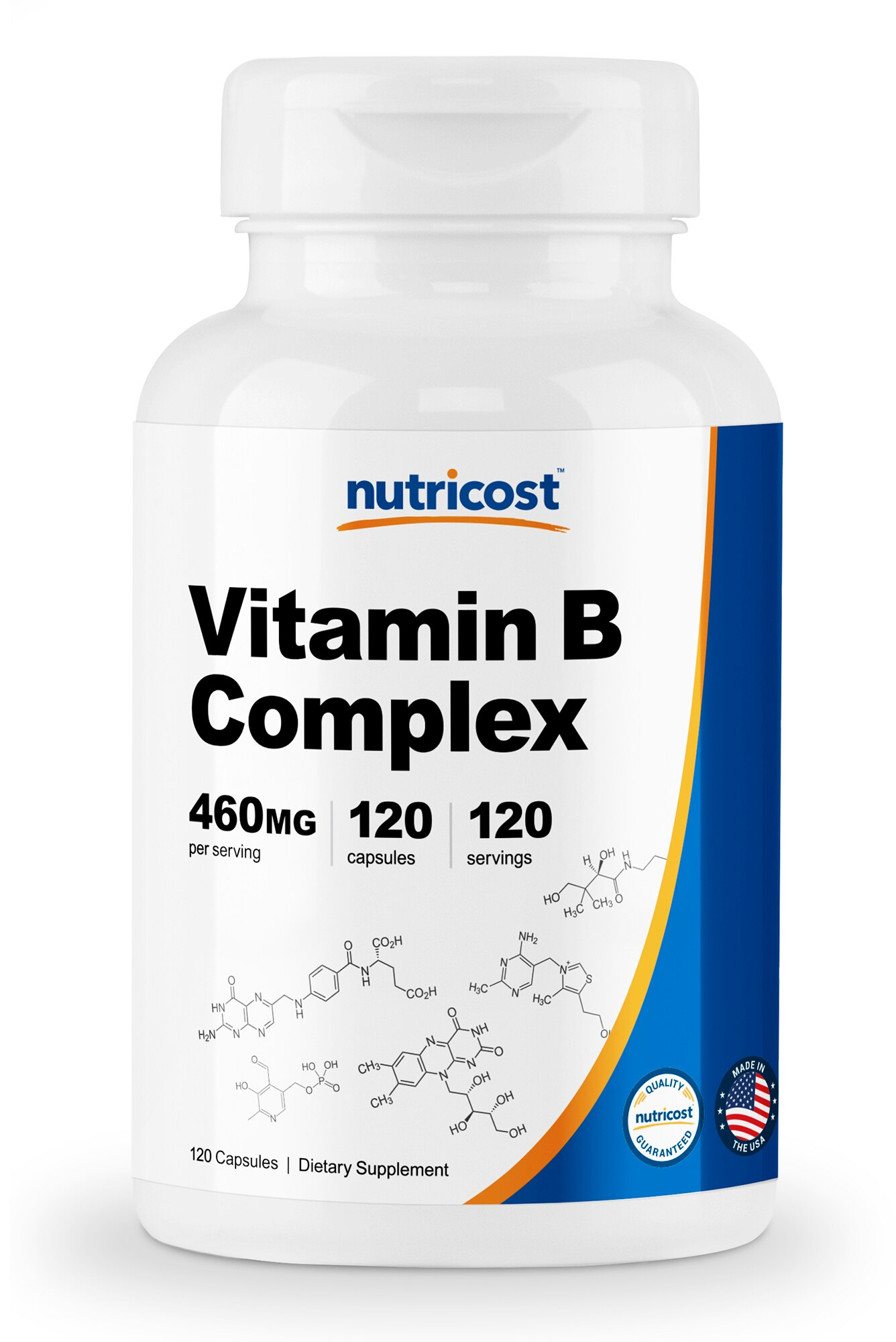Vitamins For Energy >> Nutricost High Potency Vitamin B Complex 460mg 120 Capsules With Vitamin C Energy Complex