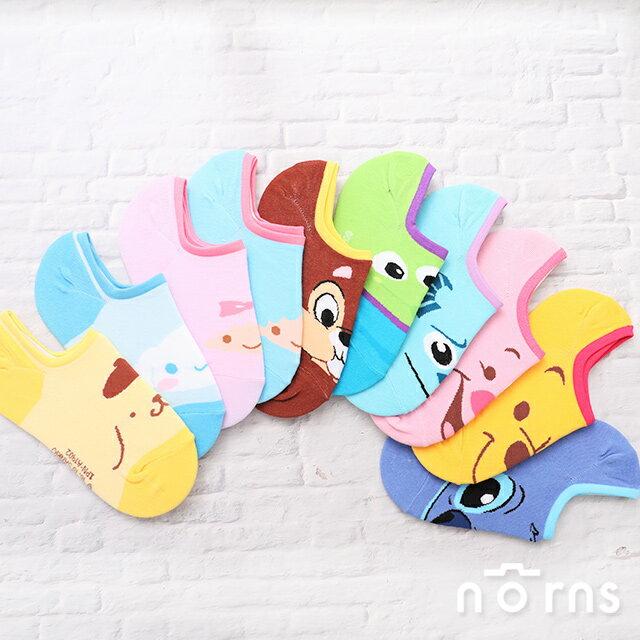 【正版迪士尼防滑短襪】Norns 船型襪 隱形襪 米奇 米妮 小熊維尼 毛怪 止滑 Disney