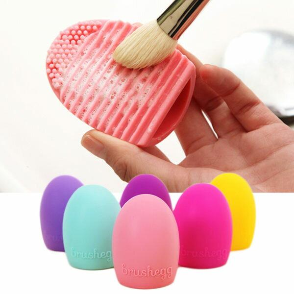 brushegg矽膠雞蛋洗刷神器蛋型刷具清潔矽膠板(一入)【庫奇小舖】不挑色隨機出貨