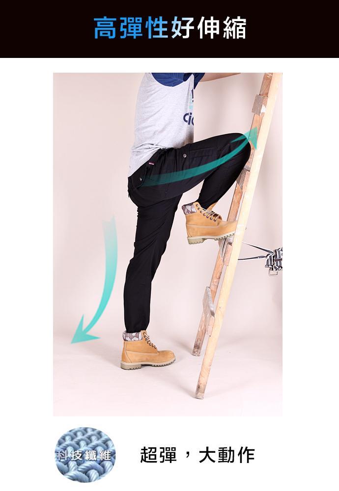 同UNIQLO版型 夏日舒適款 涼爽 彈性伸縮 側口袋 薄款 工作褲 休閒長褲 四色 CS衣舖【免運】#7006 7