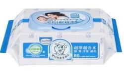 【貝恩 BAAN】 嬰兒保養柔濕巾-無香料80抽x24包(箱購)