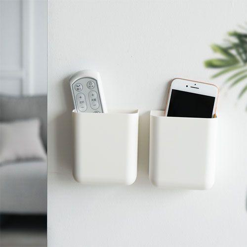 ✤宜家✤空調遙控器收納掛架 壁掛式收納盒 手機充電壁掛盒