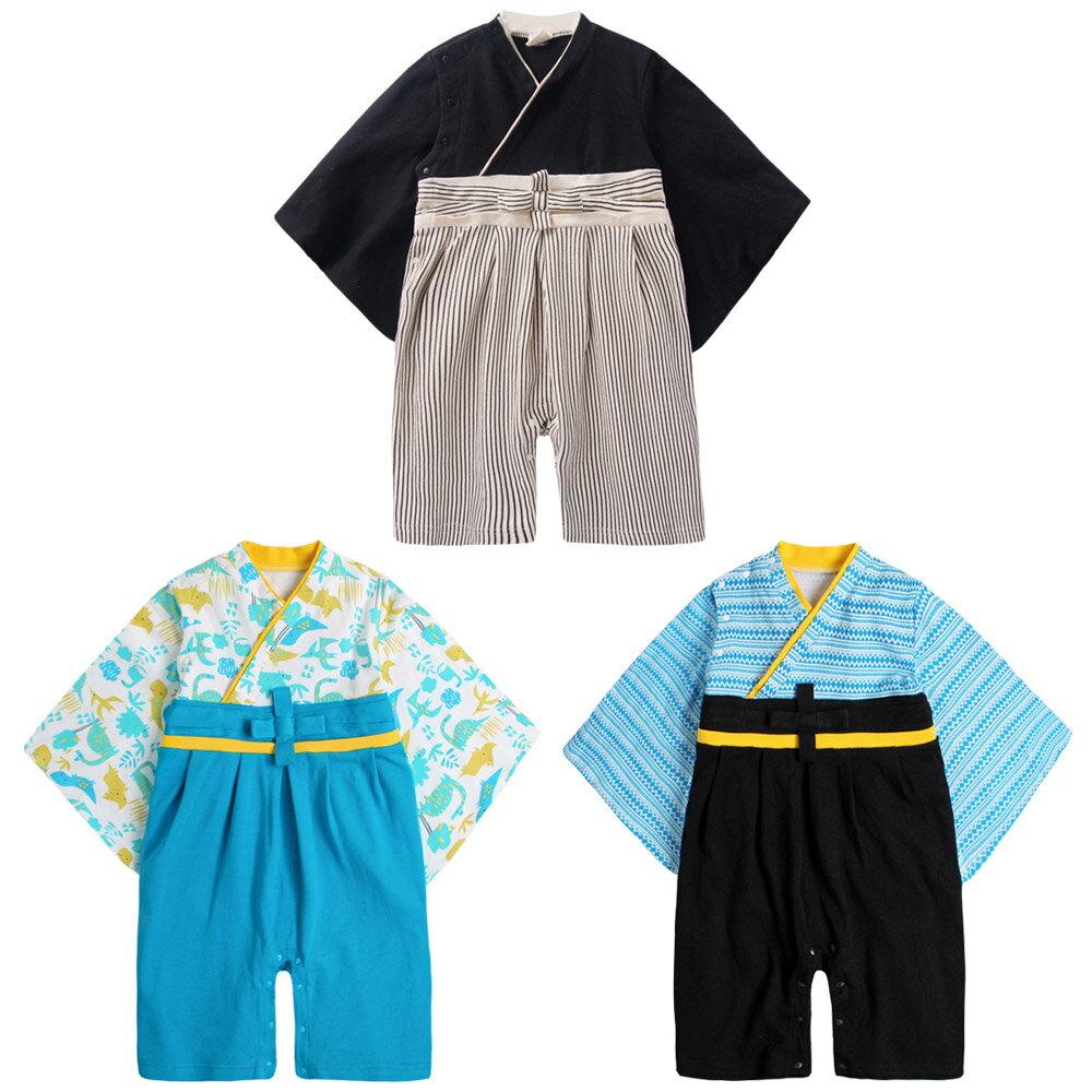 連身衣 日式 和服 造型服 男寶寶 爬服 哈衣 扮演服 派對 Augelute Baby 37303 1
