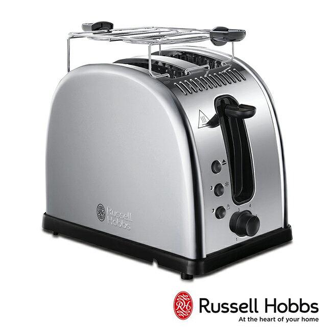 Russell Hobbs 英國羅素 Legacy 晶亮烤麵包機21290TW-晶亮銀