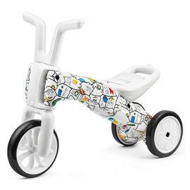 【淘氣寶寶】比利時 Chillafish 二合一漸進式玩具 Bunzi 寶寶平衡車-花花貓咪【三輪變二輪,高C/P值的幼兒玩具車】