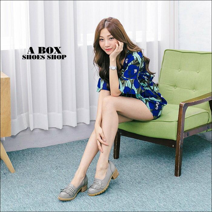 【KF339-6】韓國製造 質感透氣真皮流蘇 舒適4.5CM粗中跟牛津鞋 樂福鞋 紳士鞋 2色 2