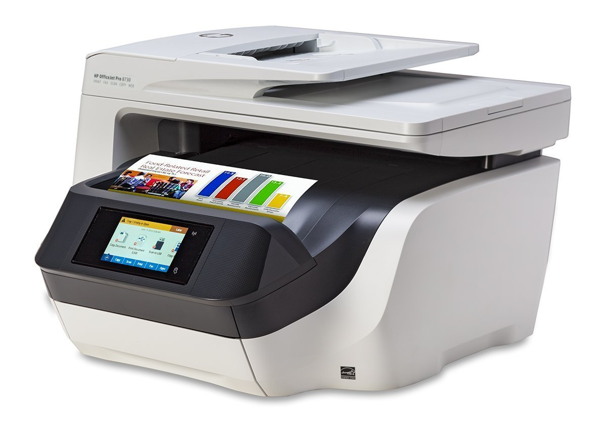 hes supplies hp officejet pro 8730 d9l20a wireless all in one color printer with duplex. Black Bedroom Furniture Sets. Home Design Ideas