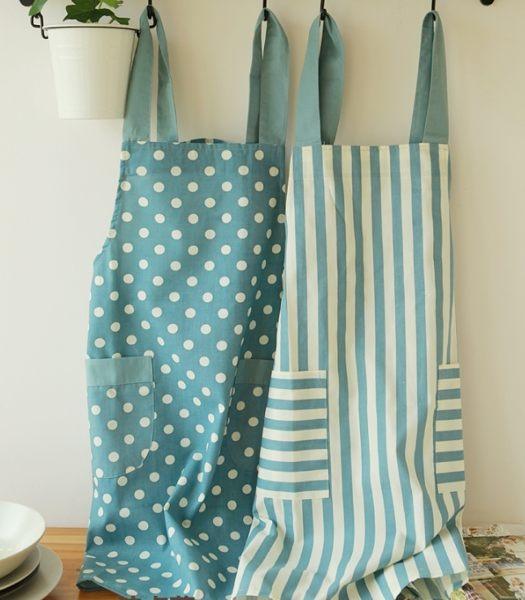 棉麻波點日式圍裙工作服和風111790海渡