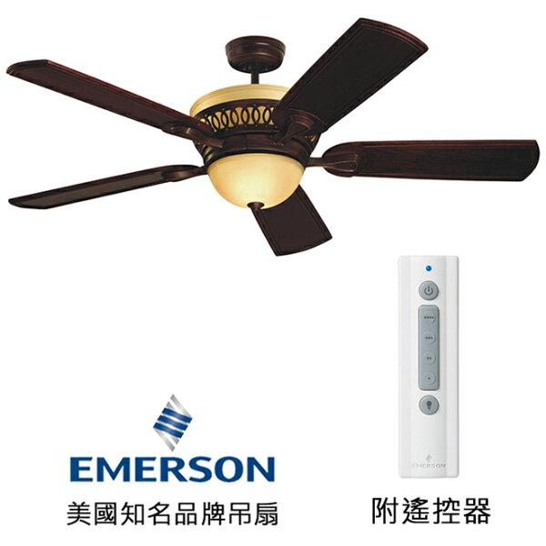 [topfan]EmersonBraddock54英吋吊扇附上下燈(CF440VNB)威尼斯銅色(適用於110V電壓)
