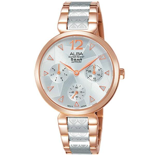 ALBA雅柏VD75-X110K(AP6556X1)部落幾何時尚腕錶玫瑰金33MM
