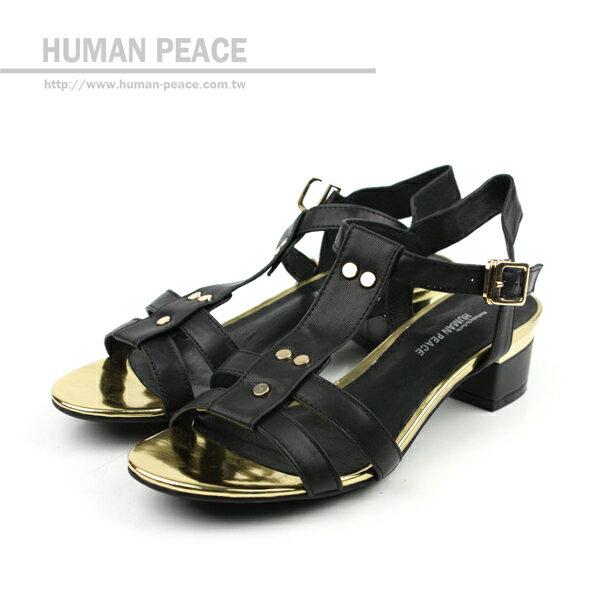 HUMAN PEACE 涼鞋 黑色 女鞋 no333