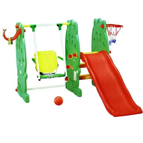 【奇買親子購物網】奇買KEMALL 綠巨人溜滑梯+鞦韆組(SK-207)