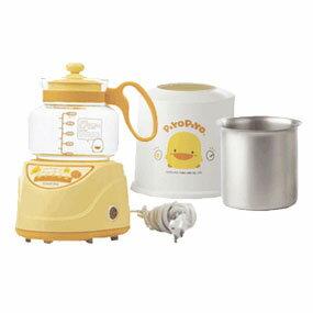 【奇買親子購物網】黃色小鴨微電腦調乳器+調乳保溫容器組合