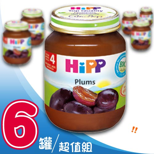 【奇買親子購物網】HiPP喜寶有機寶寶黑棗泥/6入